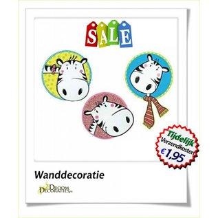 Uitverkoop SALE Kinderkamer, babykamer foam decoratie set trio model: Zebra