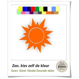 JERMA Zon decoratie sticker wandenstickers raamdecoratie