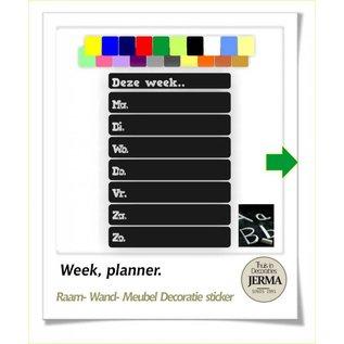 JERMA kalender Week planner memobord schoolbord sticker