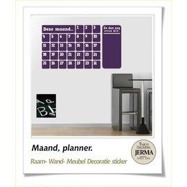 JERMA Maand kalender planner memobord sticker.