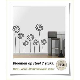 JERMA Bloemen op steel decoratie.