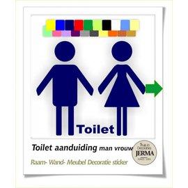 JERMA Toilet, symbool pictogram, Man, Vrouw & tekst