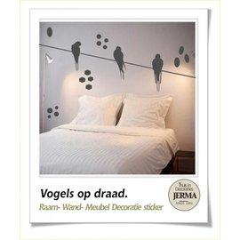JERMA Vogels op draad, decoratie.