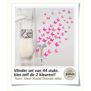 JERMA Vlinders interieur decoratie Vlinders raamsticker meubelsticker muurstickers wanddecoratie stickers set.