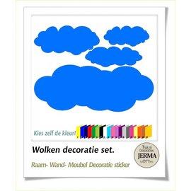 JERMA Wolken 4 stuks, decoratie.
