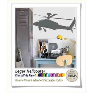 JERMA Wandsticker, raamdecoratie, meubeldecoratie sticker Helikopter, realistische uitvoering