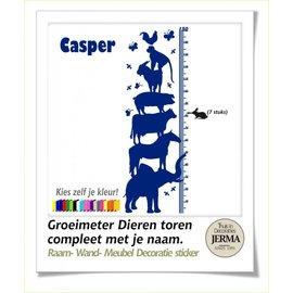 JERMA Dierentoren groeimeter met je naam.