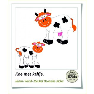 JERMA kinderkamer decoratie sticker Koe, interieur of raamdecoratie sticker