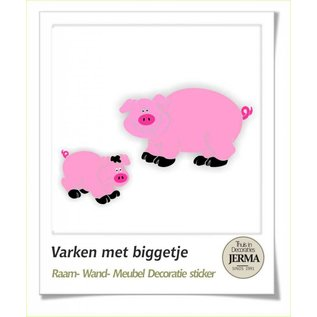 JERMA Varken en big kinderkamer decoratie stickers raamdecoratie stickers, muurdecoratie stickers