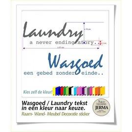 JERMA Laundry / Wasgoed met tekst