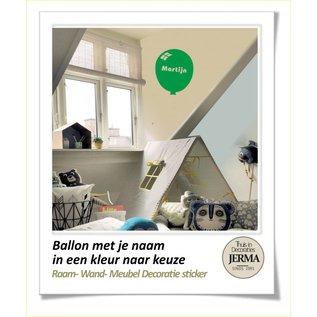 JERMA Ballon decoraties stickers met je naam of andere tekst