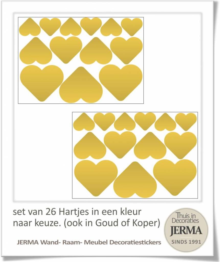 ... Hartjes decoratie stickers voor de raamsticker muurdecoratie plakkers
