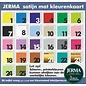 JERMA Sterren decoratiestickers raamstickers meubelplakkers muurdecoratie