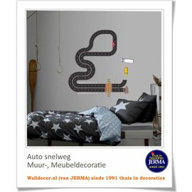 Walldecor Autobaan sticker muur-, meubeldecoraties