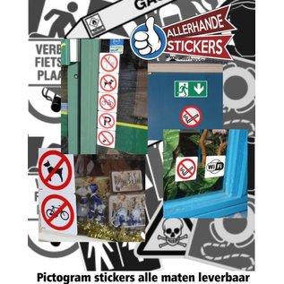 AllerhandeStickers.nl Pictogram stickers Symbool stickers ook op maat leverbaar