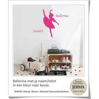 JERMA Ballerina met je naam en de kleur kies je zelf uit.