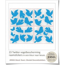 JERMA Twitterende vogel sticker set