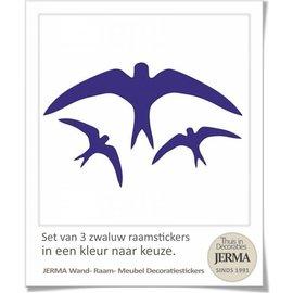 JERMA Vogelbescherming sticker set 3 stuks.