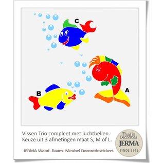 JERMA Vissen decoratie kinderkamer set van 3 vissen