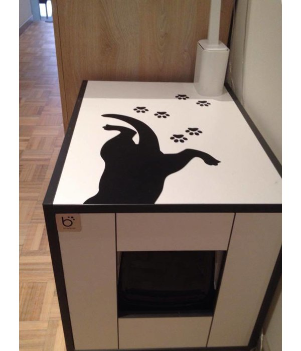 Moderne Kattenbak schep met houder