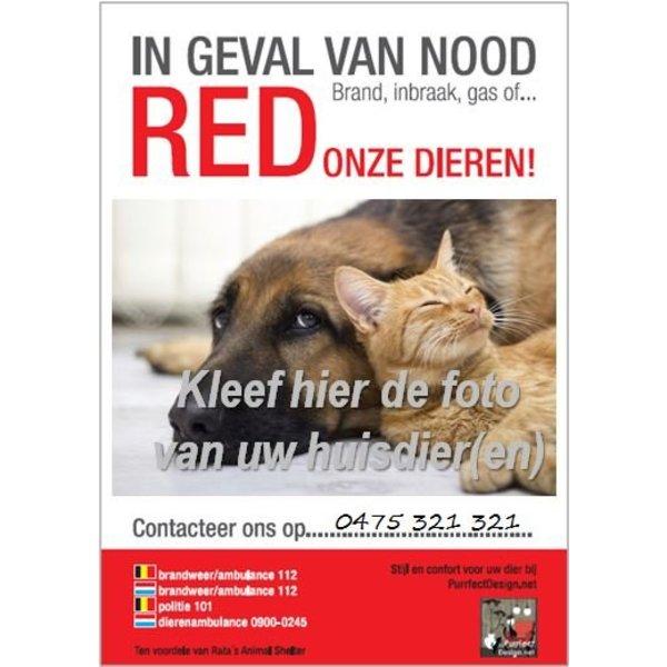 RED onze Dieren (noodsticker)