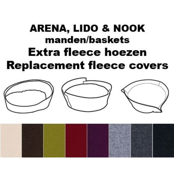 Extra covers ARENA, LIDO and NOOK baskets
