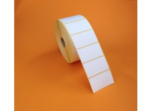 Thermische kunststof etiketten 57x32mm, rol à 2.000 etiketten