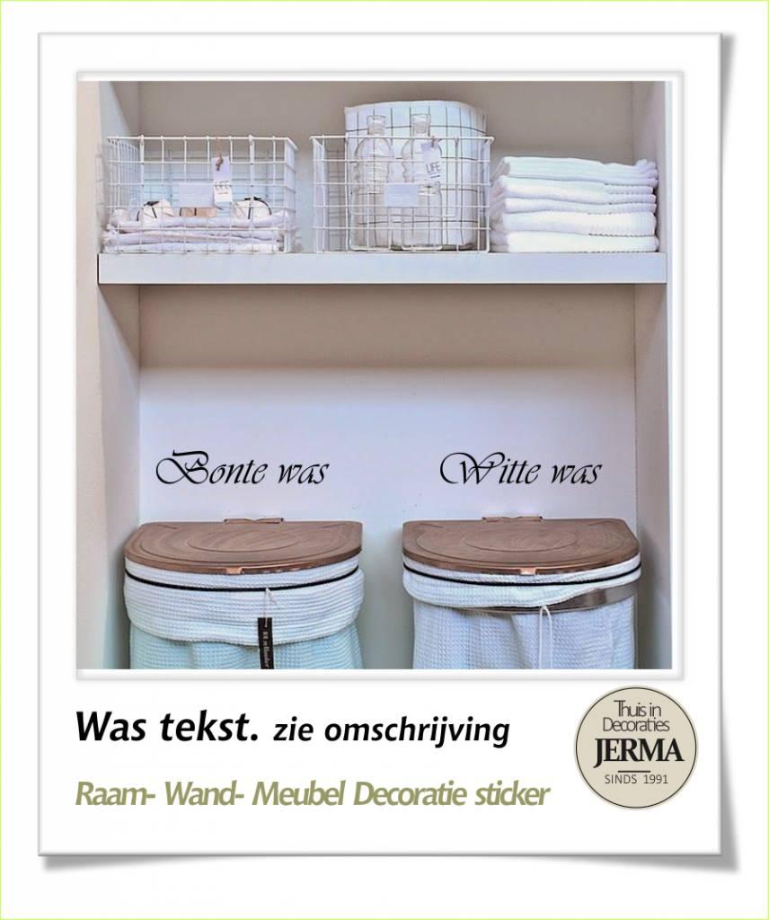 JERMA - Decoratie Was tekst Bonte was, Witte was, Hand was of Wol was ...