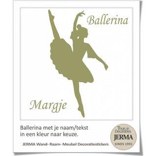 JERMA - Decoratie Ballerina met je naam en de kleur kies je zelf uit.