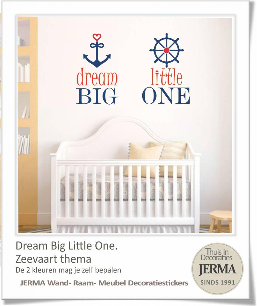 Decoratie Muur Kinderkamer.Jerma Decoratie Dream Big Little One Muursticker Kinderkamer Tekst