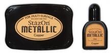 Tsukineko StazOn Metallic Copper Solvent Ink Pad