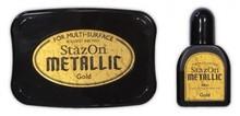 Tsukineko StazOn Metallic Gold Solvent Ink Pad