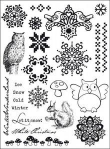 Eline's Huis Clear Stamps Let It Snow (24 Stuks)