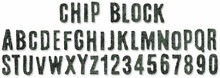 Sizzix Sizzlits Decorative Strip Chip Block Alphabet (656917)