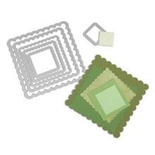Sizzix Framelits Squares Scallop (6 Stuks)