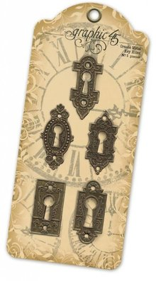 Graphic 45 Ornate Metal Key Holes (4500546)