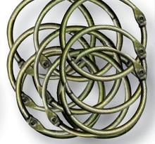 Joy!Crafts Book Binding Rings Antique Brass 43 mm (Buitenmaat) (6200/0133)