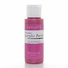Artiste Acrylic Paint Metallic Rose (DOA763107)