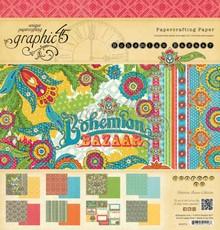 Graphic 45 Bohemian Bazaar 12x12 Inch Paper Pad (4500710)