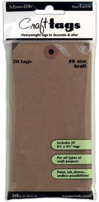 Ranger Craft Tags #8 Size Kraft (ISC31864)