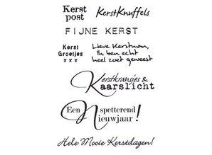 Marianne Design Eline S Kerstwensen Clear Stamps Set