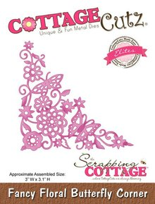 Scrapping Cottage Cottage Cutz Fancy Floral Butterfly Corner (Elites) (CCE-031)