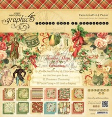 Graphic 45 Twelve Days Of Christmas 12x12 Inch Paper Pad (4500734)
