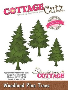 Scrapping Cottage Woodland Pine Trees (CCE-085)