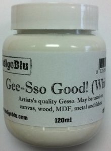 IndigoBlu Gee-Sso Good! White Artist Quality Gesso 120ml (GSGW120)