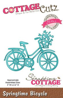 Scrapping Cottage CottageCutz Springtime Bicycle (Elites) (CCE-122)