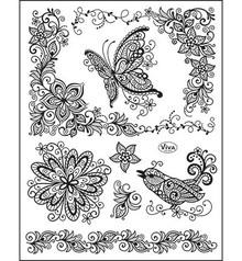 Viva Decor Scribble Butterfly Clear Stamp Set (4003 077 00)