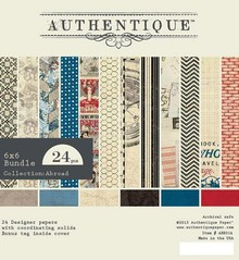 Authentique Abroad 6x6 Inch Paper Pad (ABR014)