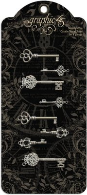 Graphic 45 Shabby Chic Ornate Metal Keys (4500839)