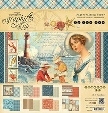 Graphic 45 By The Sea 12x12 Inch Paper Pad (4500908)
